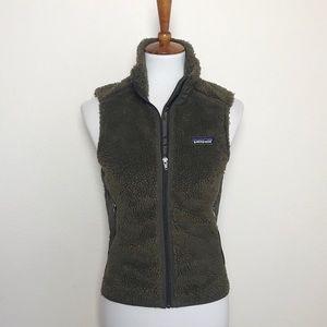 PATAGONIA Brown Fleece Vest! Women's XL